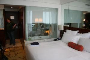 Langham Place Room & en-suite bathroom.