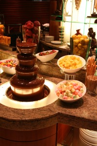 Chocolate Fountain Counter 3 March 2007