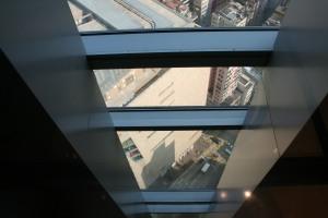 Elevator view to Shanghai Street