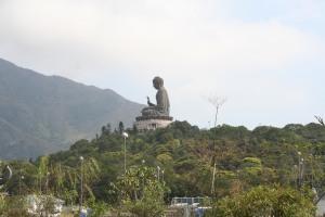 The last view of Tian Tan Buddha