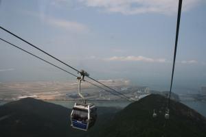 Hong Kong Airport from Ngong Ping Cable Car