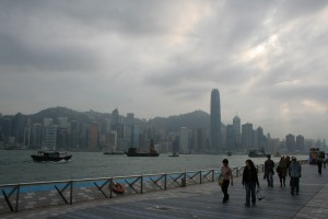 A busy Victoria Harbour from Kowloon