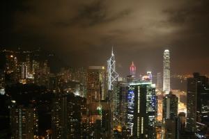 Hong Kong Central from Revolving 66 Restaurant.