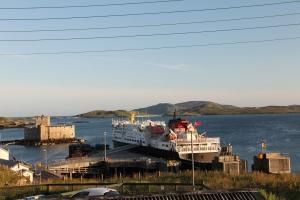 MV Clansman at Castlebay in the evening sunshine