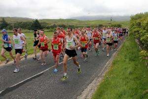 Start of the Harris Half Marathon