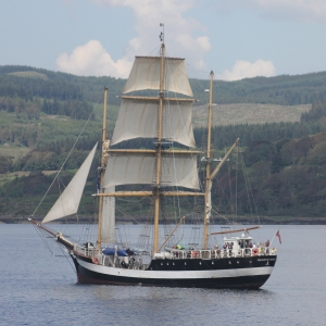 Pelican of London in the Sound of Mull