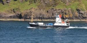 MV Eigg heading to Lismore from Oban