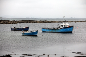 Boats on the west side of Benbecula