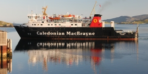 MV Lord of the Isles arriving at Castlebay