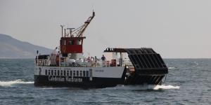 MV Loch Riddon arriving at Claonaig